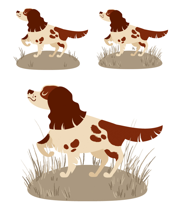 используйте инструмент кисти, чтобы нарисовать траву