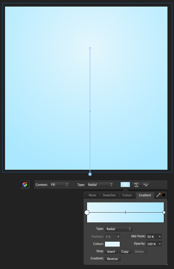 make a background rectangle with radial gradient