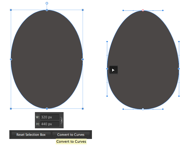 make the body with ellipse tool