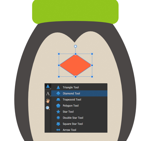 affinity designer how to make a pie shaped triangle