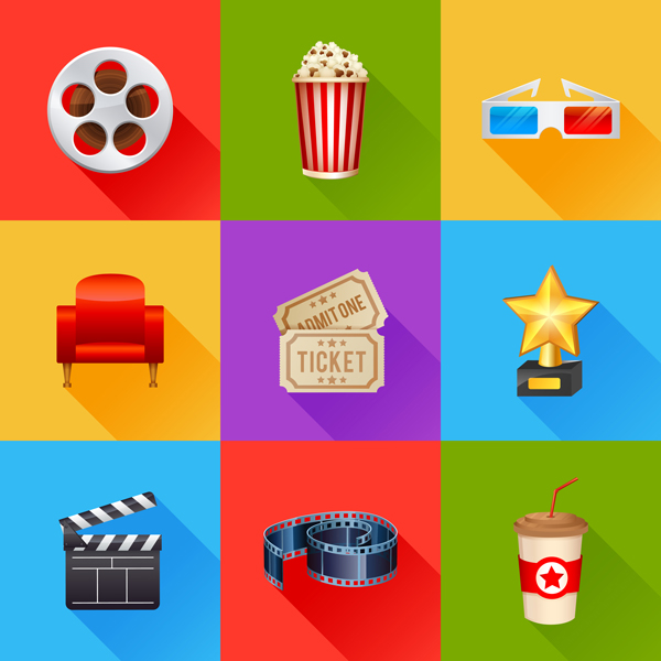 skeumorphic movie icons