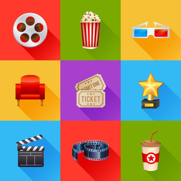 skeumorphic movie icons