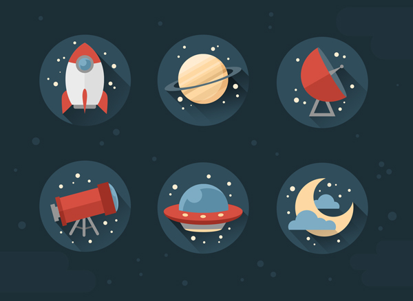 flat icons in photoshop