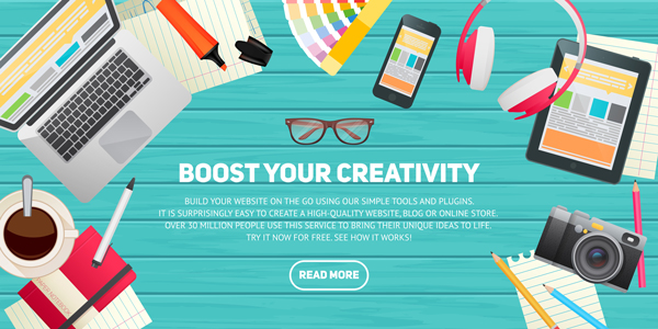 Creating Flat Workspace Elements for Advertisements