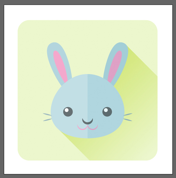 finish up the bunny icon