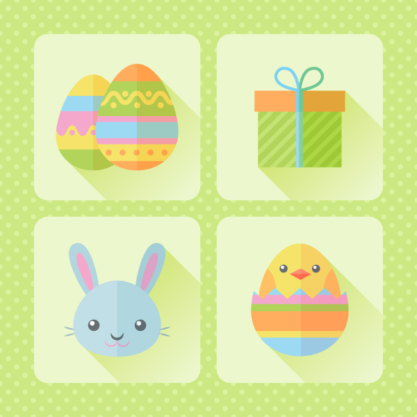 Easter icons set is finished