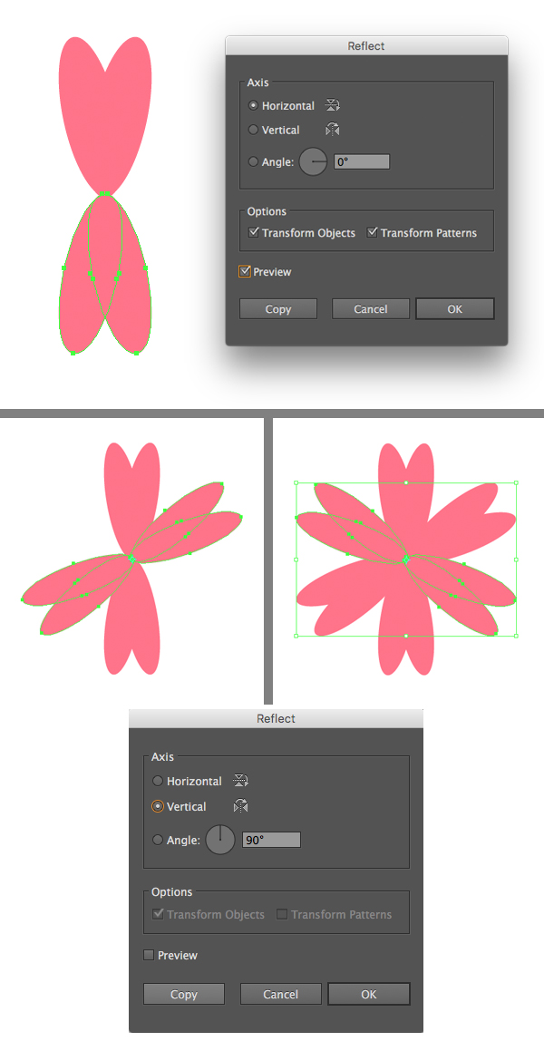 make a petal from ellipse 2