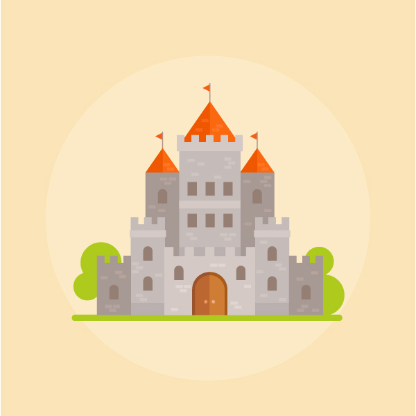 How to create a flat design castle in affinity designer Design a castle online