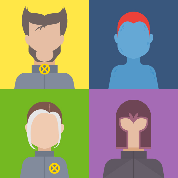 How to Create a Set of X-Men Avatars in Adobe Illustrator