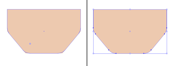 make the chin rounded using live corners