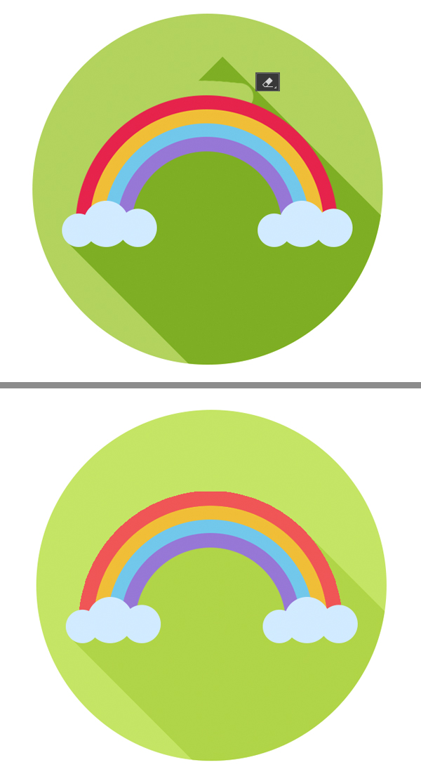 flat rainbow icon is ready