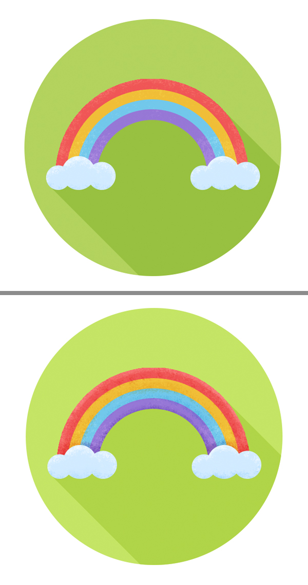 make the rainbow icon textured