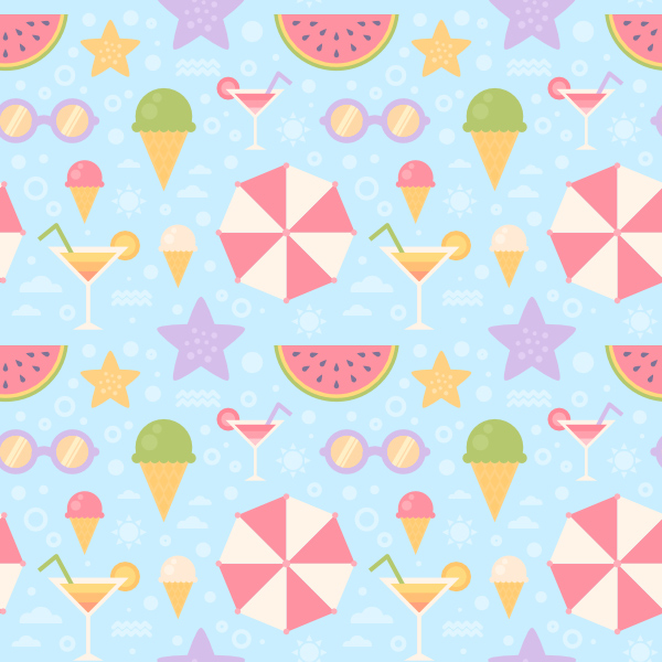 Flat Summer Seamless Pattern is finished