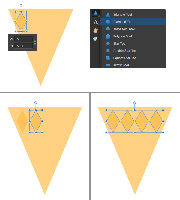 use the diamond tool for the waffle texture