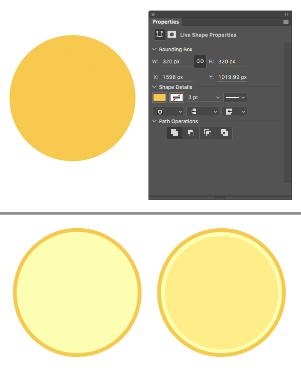 make a lemon circle with the ellipse tool