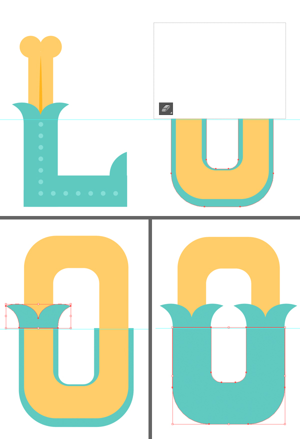 add decorative elements to the letter