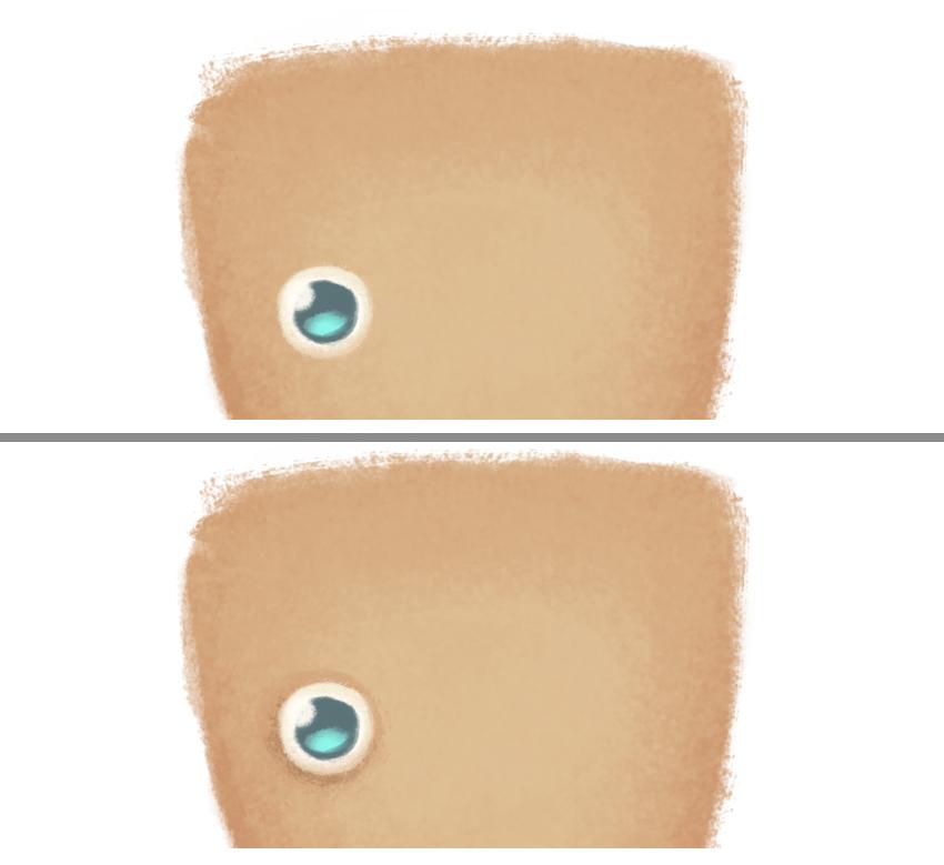 add shadow beneath the eye
