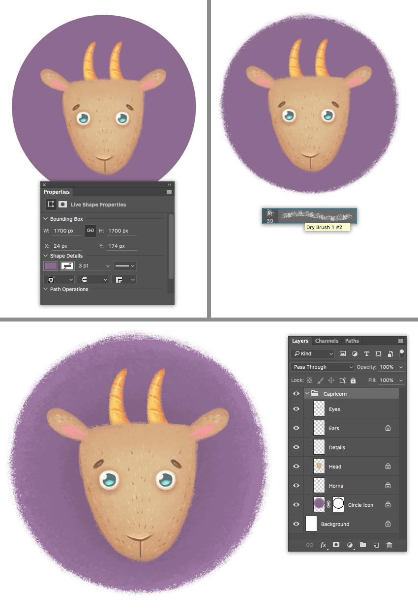 make circle icon base