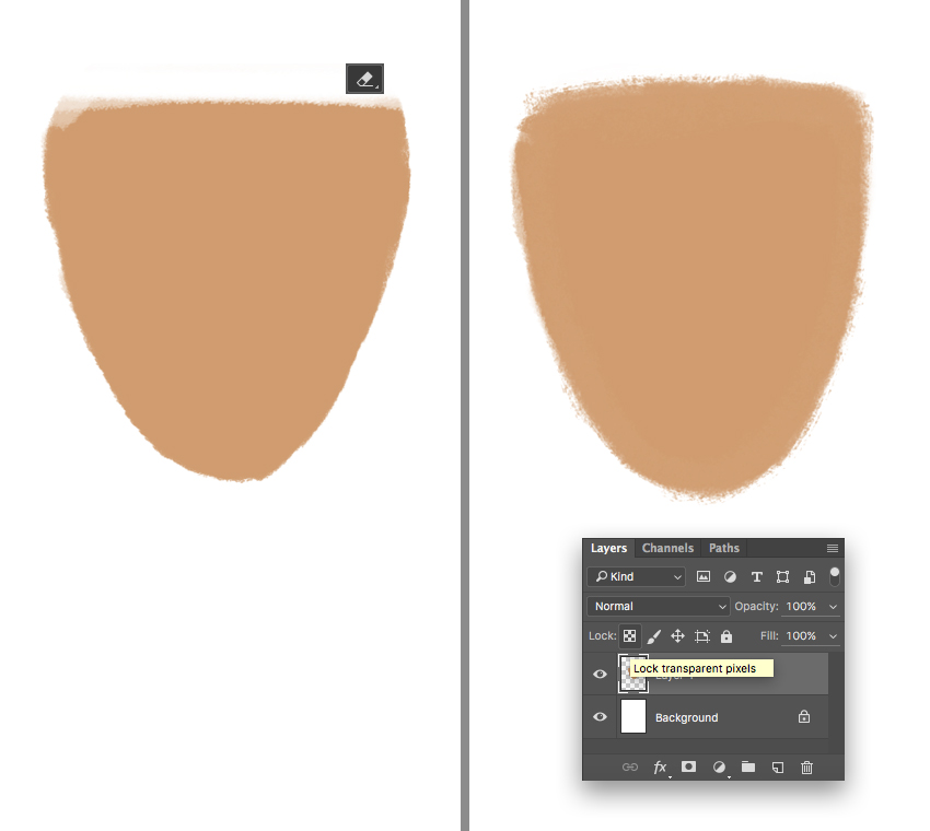 edit the shape of the head