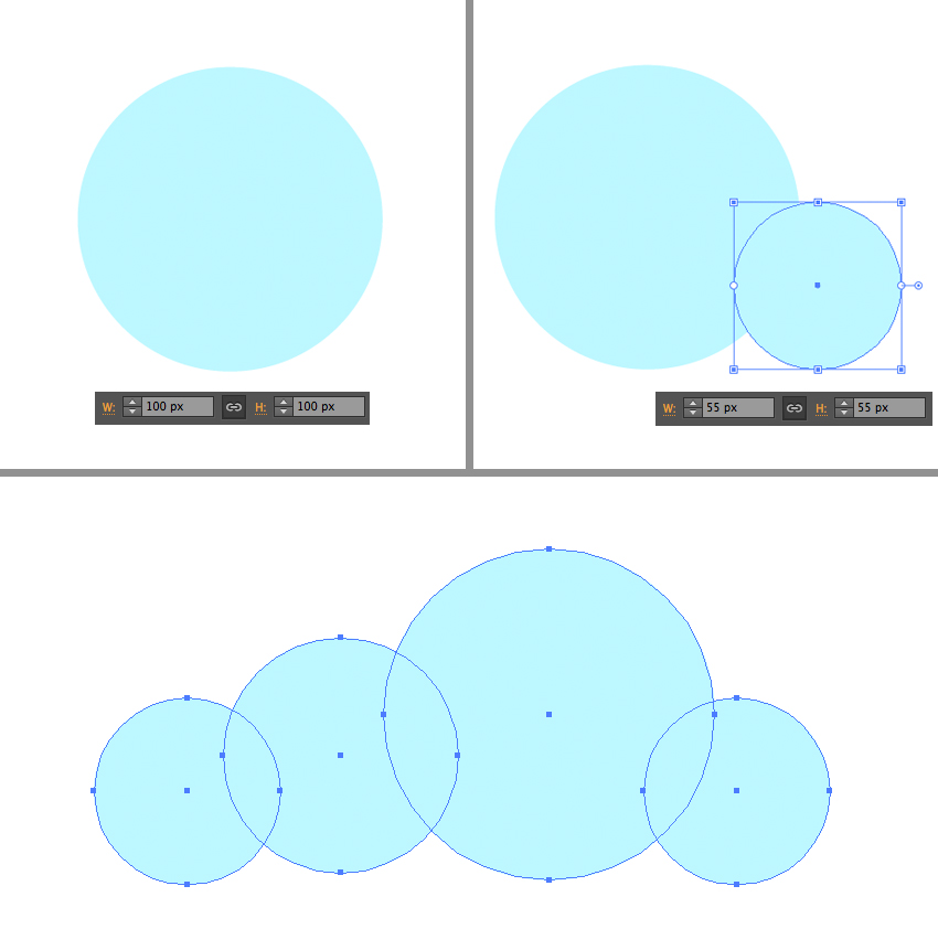 make a cloud from circles