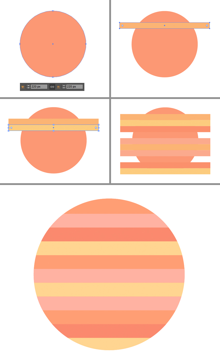 make a striped planet