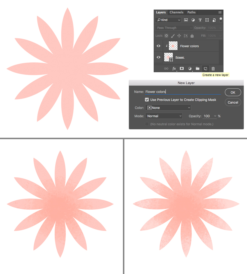 apply textures in the linked layer