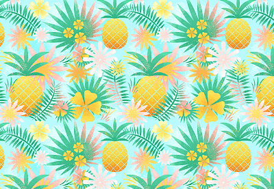 How To Create And Apply A Tropical Seamless Pattern In