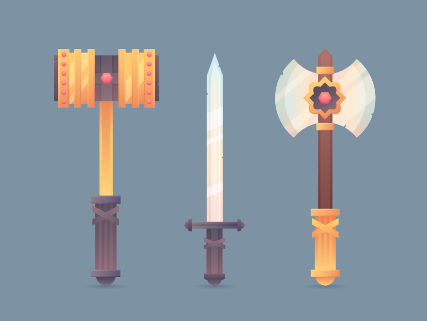 Set of Medieval Weapons is Ready