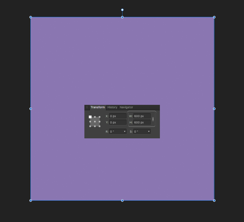 make a lilac background from rectangle
