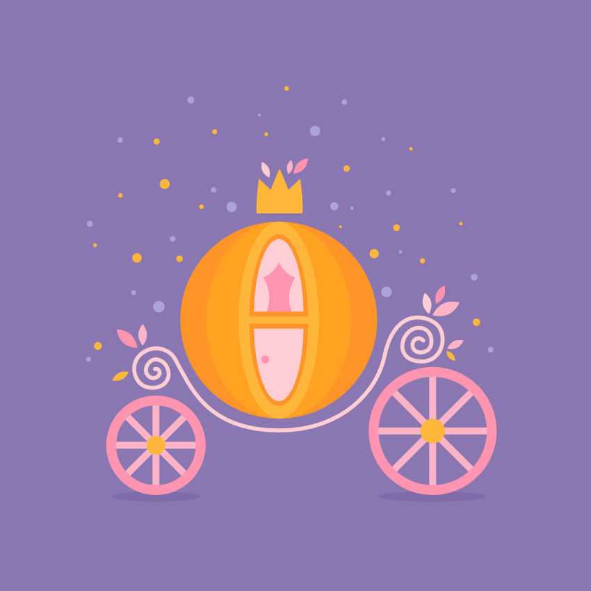 Cinderella Pumpkin Carriage in Affinity Designer