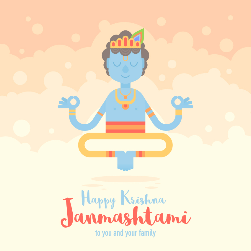 Krishna Janmashtami Card is finished