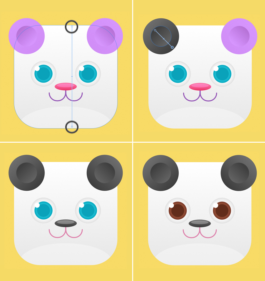 recolor the bear icon
