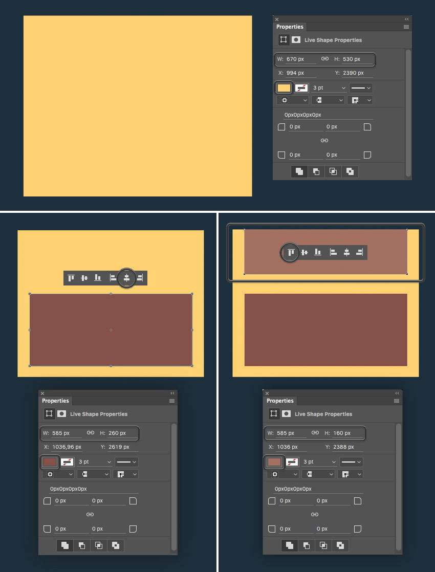 add wooden parts and align the shapes  How to Create Flat Pirate Icons in Adobe Photoshop 13 pirate icons flat