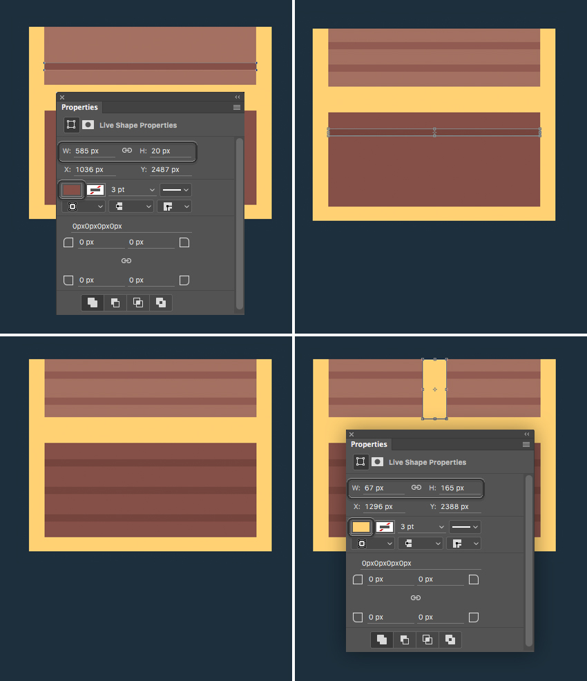 shape the wooden planks on the surface of our chest  How to Create Flat Pirate Icons in Adobe Photoshop 14 pirate icons flat
