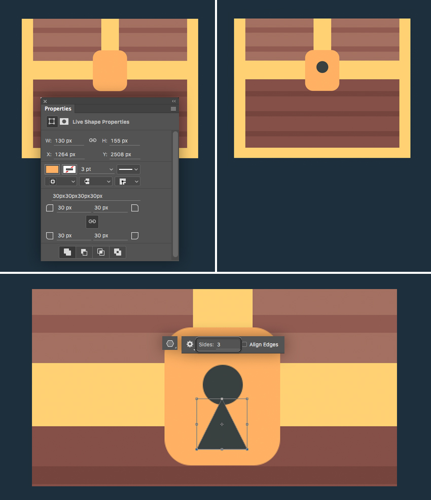 add a lock to our chest  How to Create Flat Pirate Icons in Adobe Photoshop 15 pirate icons flat