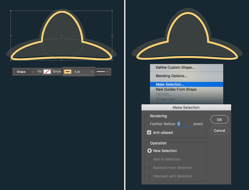 add a bright outline with yellow stroke  How to Create Flat Pirate Icons in Adobe Photoshop 19 pirate icons flat