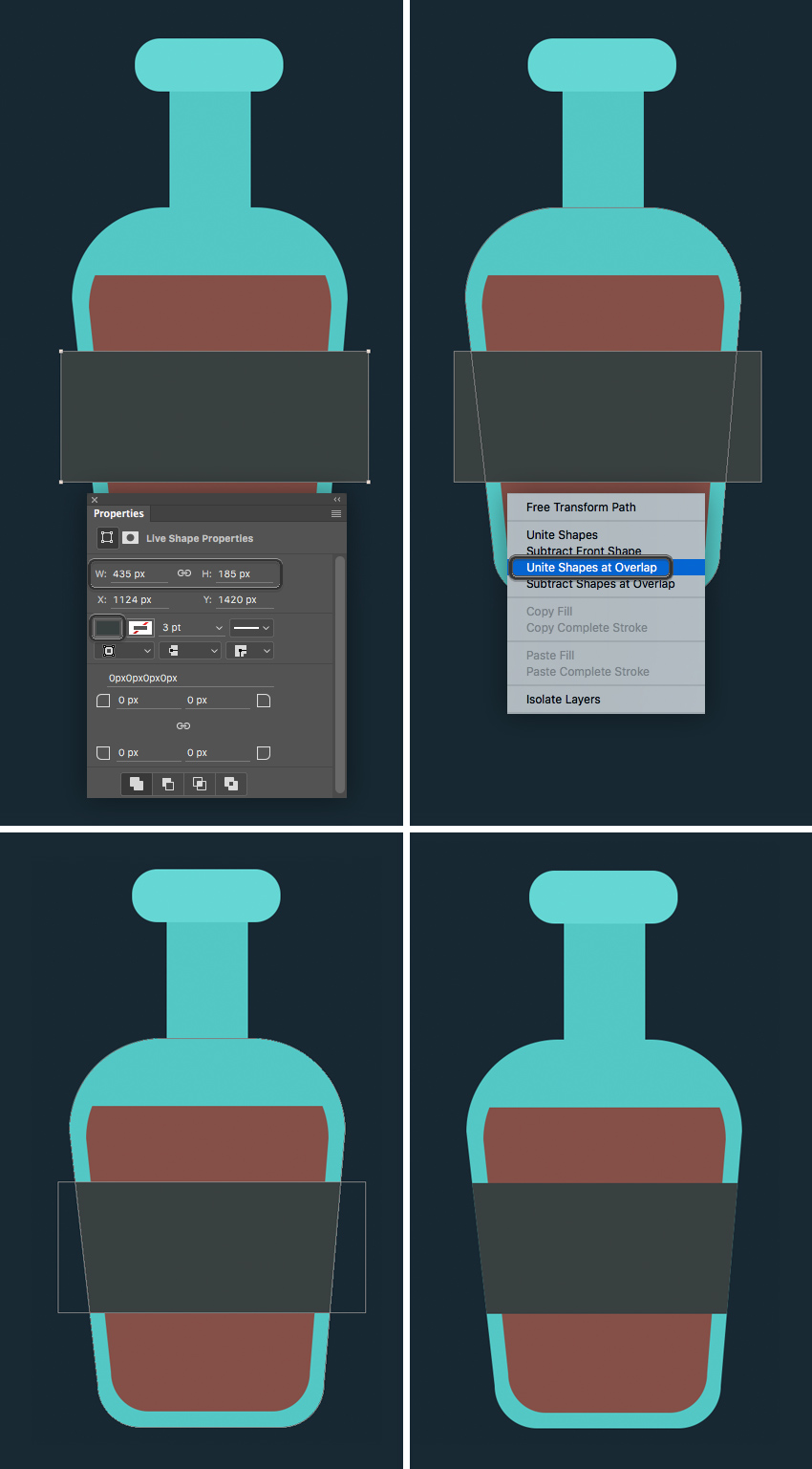 add a pirate label to the bottle  How to Create Flat Pirate Icons in Adobe Photoshop 5 1 pirate icons flat