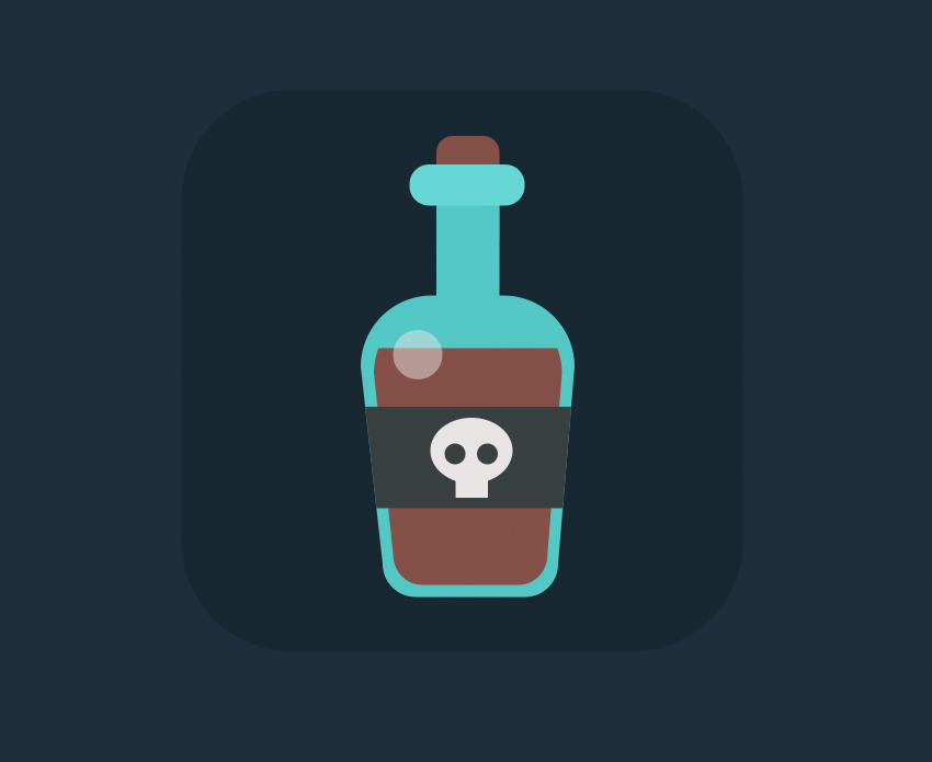 rum bottle icon is ready  How to Create Flat Pirate Icons in Adobe Photoshop 7 pirate icons flat