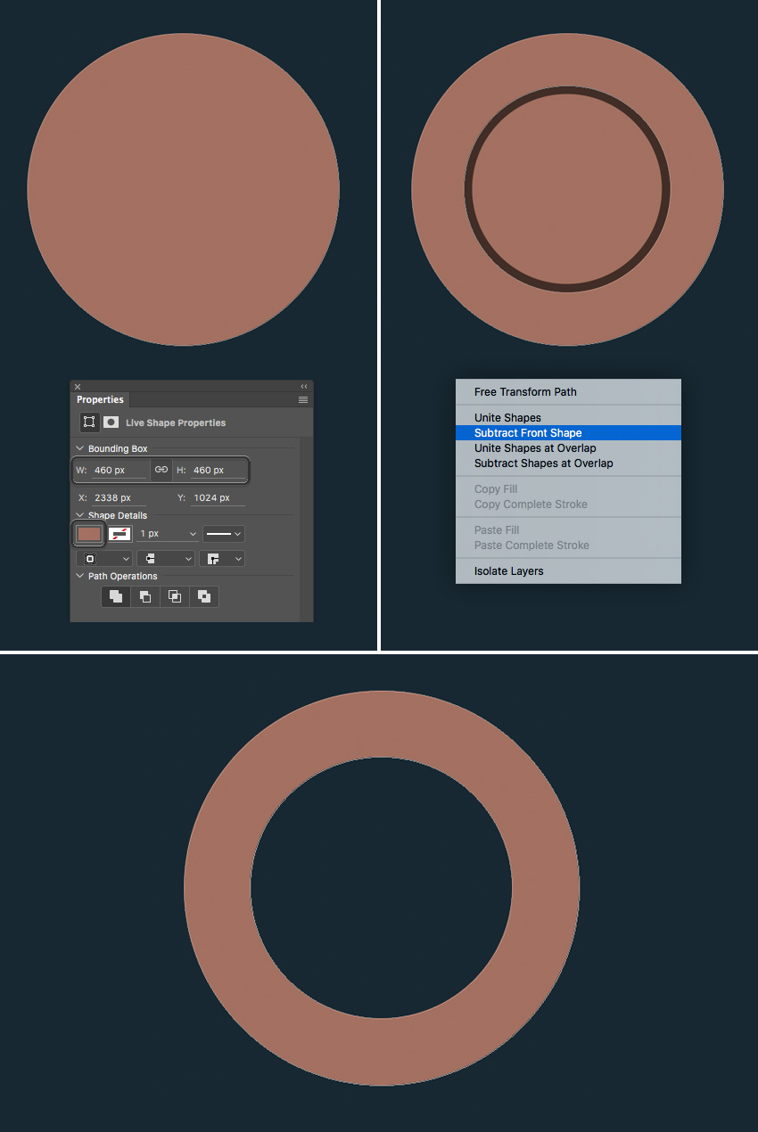 shape the base of the steering wheel from circle  How to Create Flat Pirate Icons in Adobe Photoshop 8 pirate icons flat