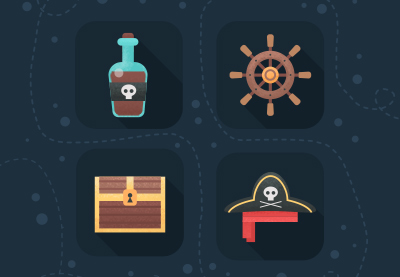 27 pirate icons flat400
