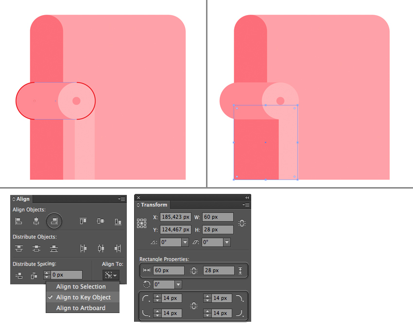 make the armrest 2  How to Create a Cozy Flat Design Interior in Adobe Illustrator 18 flat interior character