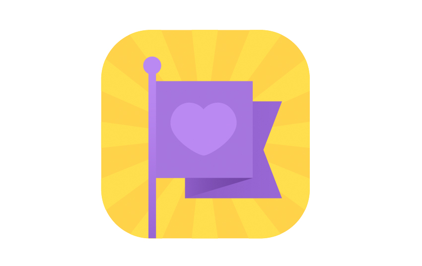 love banner icon is finished