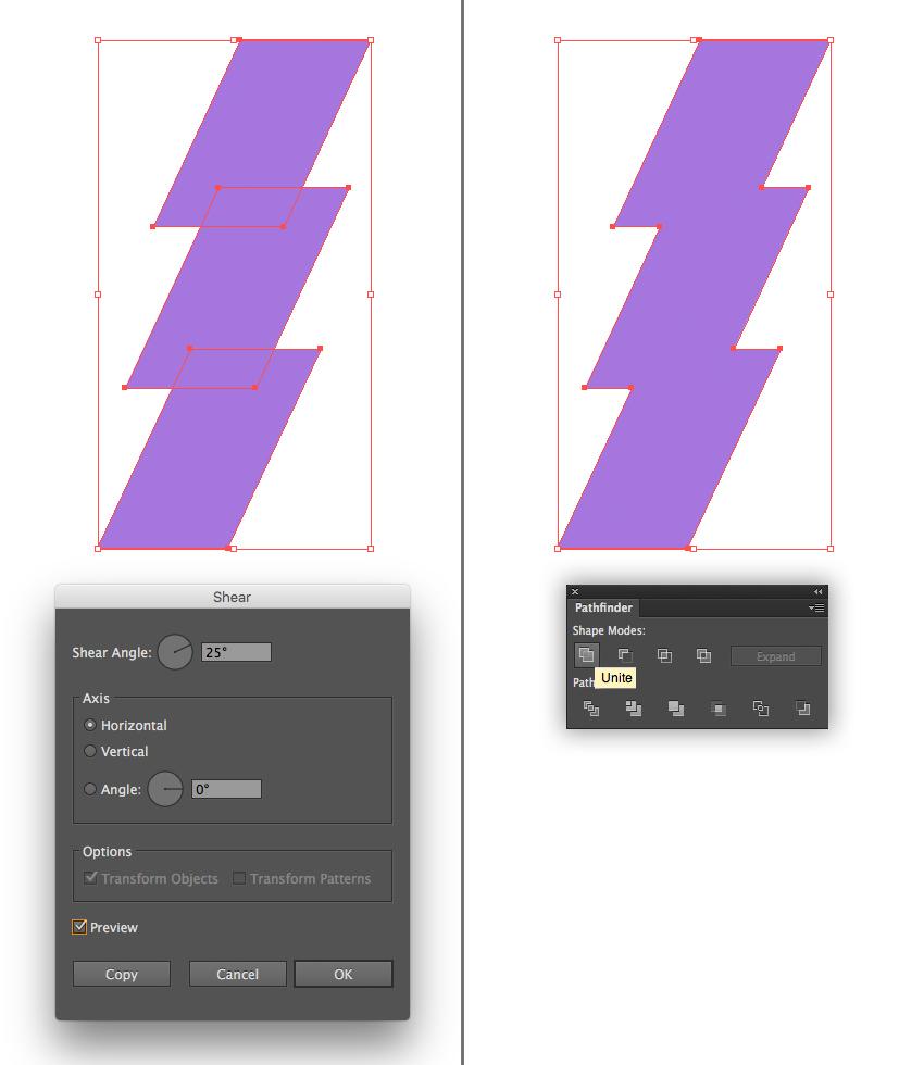 make a lightning bolt emblem 2