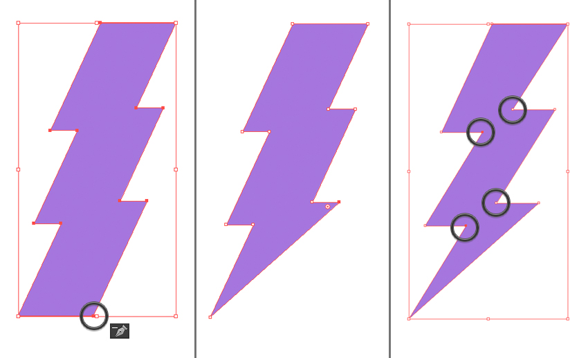 make a lightning bolt emblem 3
