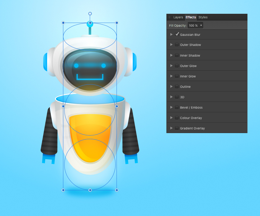 affinity designer effects panel