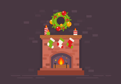 30 christmas fireplace400