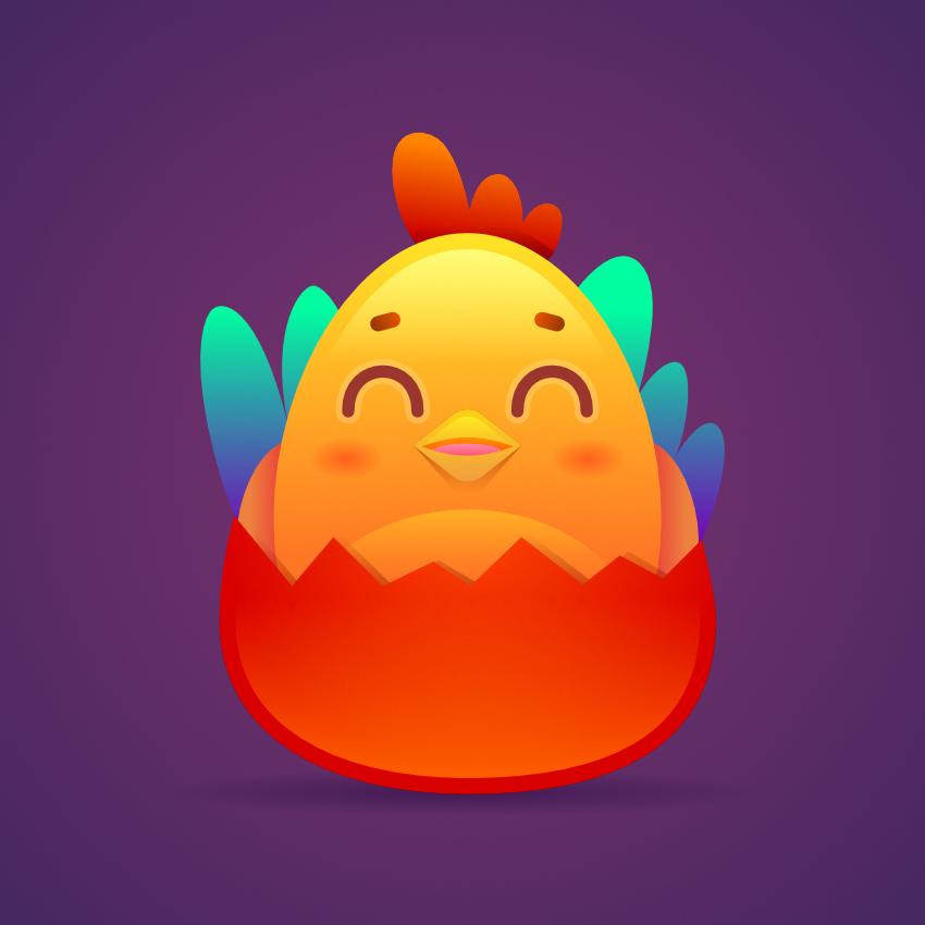 rooster character for Chinese new year