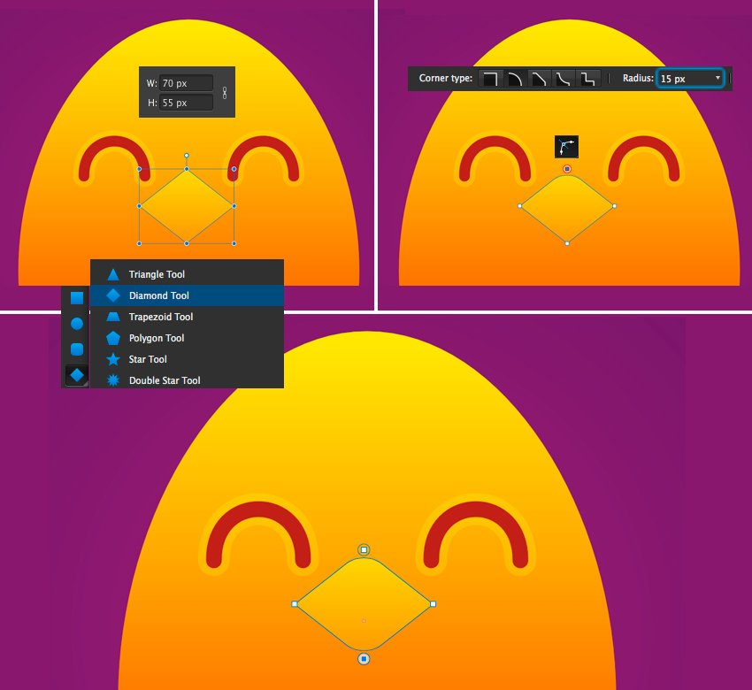make a beak with diamond tool