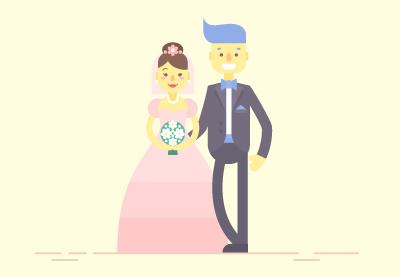 41 flat wedding characters400