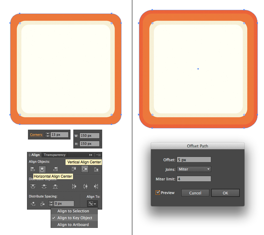create a bright orange rectangular case